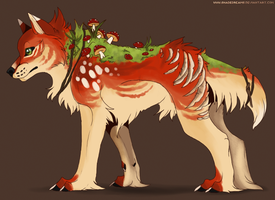Mushroom canine adoptable - Auction CLOSED by ShadeDreams