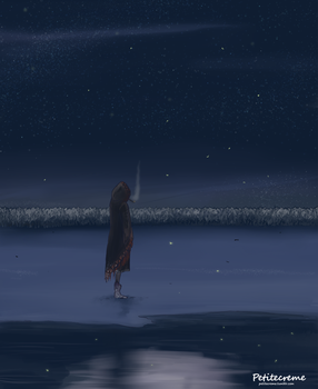 The moon in the lake by Petitecreme