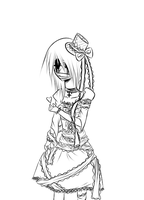 .Gothic. Lolita. Lineart. by Tina-123
