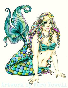 Erin's MerWoman Tattoo Design by Kyowell