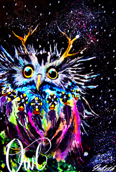 Owl in the space by icbeth