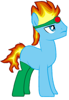 burning leo pony by MienfooInTraining