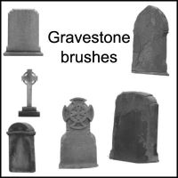 Gravestone Brushes by little-stock