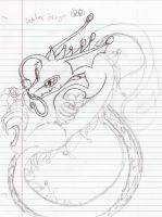 Water dragon, contest sketch by MtfoxX3