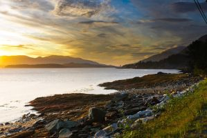 Tongass Narrows Sunset 9-12-11 by RHVC