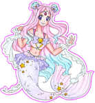 Oceanic Pretty Cure! - Cure Pearl Mermaid Form by sekaiichihappy