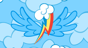 Rainbow Dash Cutie Wings Wallpaper by Eniacc