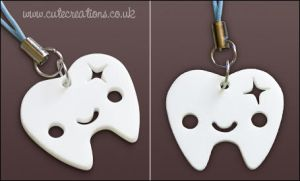 White Tooth Phone Strap by Cute-Creations