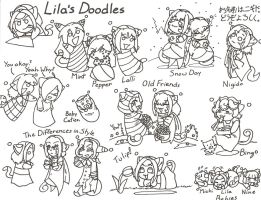 Lila's Doodles Pg 1 by MuseWhimsy