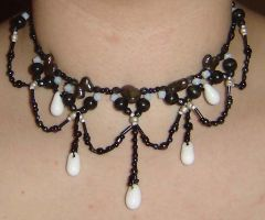 Black Victorian Necklace by ammajiger
