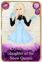 Ever After High Oc Card - Krysta Snow by KariaHearts56789