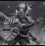 Blood Moon Diana WIP by Rilun