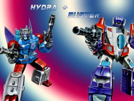 Hydra and Buster 3 by Klunker-Decepticon