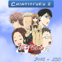Chihayafuru 2 ICO and PNG by bryan1213