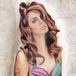 Lana Del Rey (Painted) by shesguiltybydesign