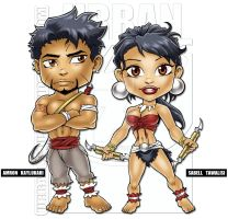 My Chibi Amron and Sabell by urbanmusiq