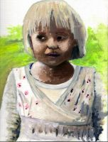 Girl oil painting by Rodriguezzz