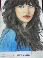 Drawing Zooey Deschanel by nikita6669
