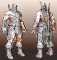 Barbarian - Armored by Konartist-Portfolio