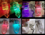 Color Changing LED Quartz Crystal Pendant by mymysticgems