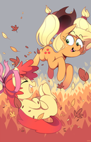 Apple Fall by Karzahnii