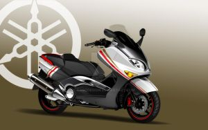 Yamaha T-Max 500 Dago Red Line by DagoDesign