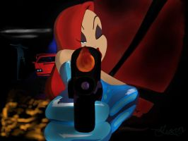 I get it you must be ready to die.jessica rabbit. by geovailpintor