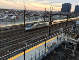 Acela @ Harrison Station by towerpower123