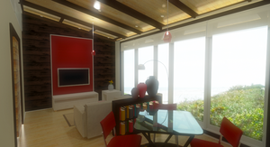 Guest House - Living + Dining View by el-Jimmeister