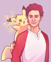Pikachu and Sam by missxdelaney