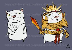 Emperor Serious Cat by bernoully