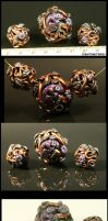 Lizard and Vines Bead Set by CatharsisJB
