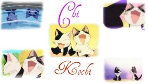 Chi and Kochi wallpaper by FireFang086