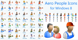 Aero People Icons for Windows 8 Demo by fawkesbonfire