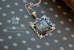 Pendant . kyanite.silver sterling by honeypunk