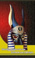 Custom Anubis Leather Egyptian Mask by b3designsllc
