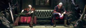 Dante Nero is on the couch by sidneymadmax