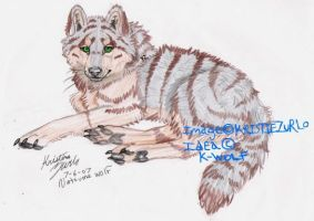 Tiger stripped wolf by NatsumeWolf
