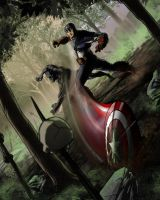 Captain America Vs Black Panther by pureluck13
