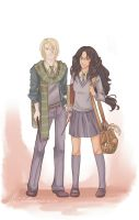 Request 4 - Slytherin boy and Ravenclaw girl by Chidori-aka-Kate