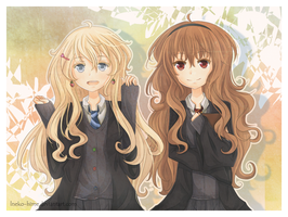 .Luna and Hermione - Bye Bye. by lNeko-Hime