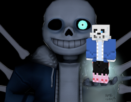 Undertale Sans Minecraft Skin by Kon13