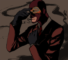 TF2: Le Masked Spy by ky-nim