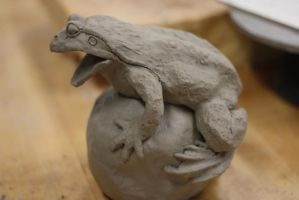 Frog Sculpture 1 by Caleb-Eshetu