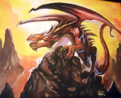 Red Dragon by SketchMonster1