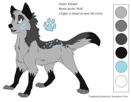 My New wolf fursona by Lavenderheart7