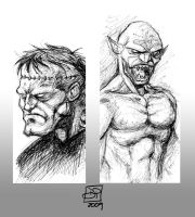 Frank and Ghoul Sketches by Kenpudiosaki