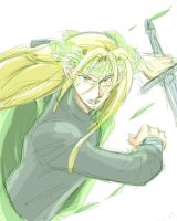 Thranduil with his sword by h-muroto