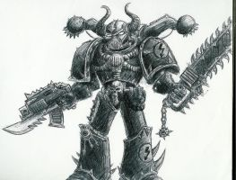 Chaos Marine by Bren1974
