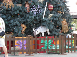 Animal Kingdom Christmas Tree close-up 2 by WDWParksGal-Stock